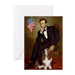 Lincoln / Basset Hound Greeting Cards (Pk of 10)
