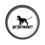 got rottweiler? Wall Clock