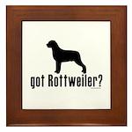 got rottweiler? Framed Tile