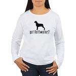 got rottweiler? Women's Long Sleeve T-Shirt