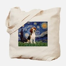 Starry Night / Beagle Tote Bag