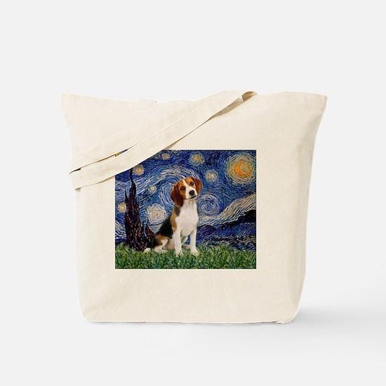 Starry Night / Beagle Tote Bag