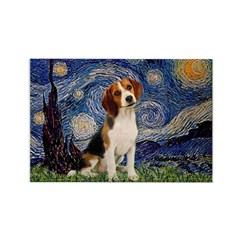 Starry Night / Beagle Rectangle Magnet (10 pack)