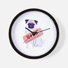 Pug - Wall Clock