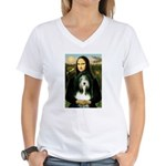 Mona / Bearded Collie Women's V-Neck T-Shirt