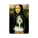 Mona / Bearded Collie Rectangle Magnet