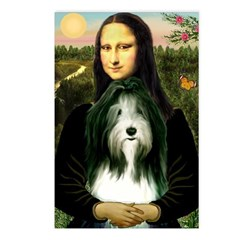 Mona / Bearded Collie Postcards (Package of 8)