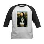 Mona / Bearded Collie Kids Baseball Jersey