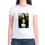 Mona / Bearded Collie Jr. Ringer T-Shirt