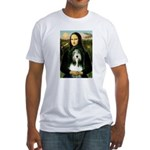 Mona / Bearded Collie Fitted T-Shirt