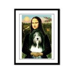 Mona / Bearded Collie Framed Panel Print