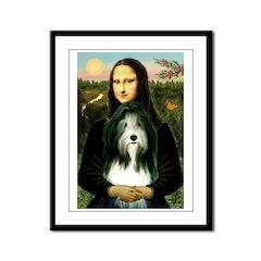 Mona / Bearded Collie Framed Panel Print