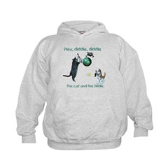 Cat and the Fiddle - Kids Hoodie