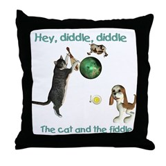 Throw Pillow - Hey Diddle, Diddle