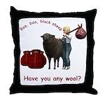 Throw Pillow - Baa, Baa, Black Sheep