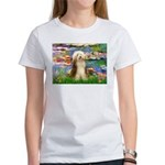 Lilies / Bearded Collie Women's T-Shirt