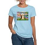 Lilies / Bearded Collie Women's Light T-Shirt