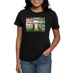Lilies / Bearded Collie Women's Dark T-Shirt