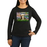 Lilies / Bearded Collie Women's Long Sleeve Dark T