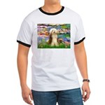 Lilies / Bearded Collie Ringer T