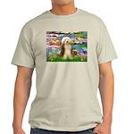 Lilies / Bearded Collie Light T-Shirt