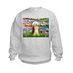 Lilies / Bearded Collie Kids Sweatshirt