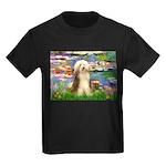 Lilies / Bearded Collie Kids Dark T-Shirt