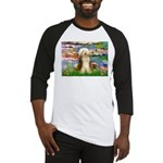 Lilies / Bearded Collie Baseball Jersey