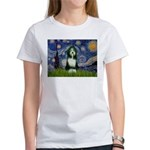 Starry Night /Bearded Collie Women's T-Shirt