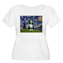 Starry Night /Bearded Collie T-Shirt
