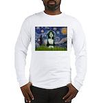 Starry Night /Bearded Collie Long Sleeve T-Shirt