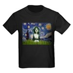 Starry Night /Bearded Collie Kids Dark T-Shirt