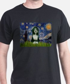 Starry Night /Bearded Collie T-Shirt
