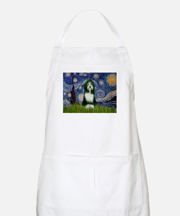 Starry Night /Bearded Collie Apron