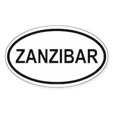 Zanzibar Oval Bumper Stickers
