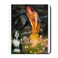 Fairies / Bearded Collie Mousepad