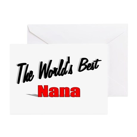 """""""The World's Best Nana"""" Greeting Cards (Pk of 20)"""