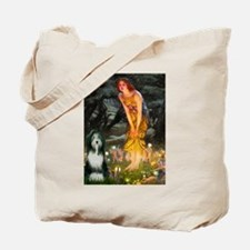 Fairies / Bearded Collie Tote Bag