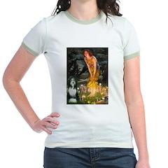 Fairies / Bearded Collie Jr. Ringer T-Shirt