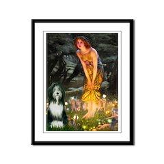 Fairies / Bearded Collie Framed Panel Print