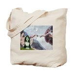 Creation / Bearded Collie Tote Bag