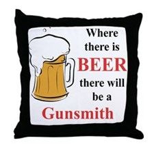 Gunsmith Throw Pillow