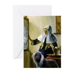 Pitcher / Bearded Collie Greeting Cards (Pk of 10)