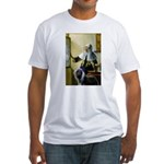 Pitcher / Bearded Collie Fitted T-Shirt