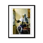 Pitcher / Bearded Collie Framed Panel Print