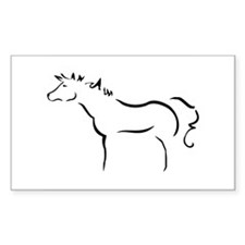 Wind Horse Rectangle Decal