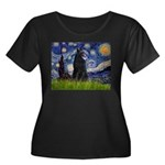Starry Night /Belgian Sheepdog Women's Plus Size S