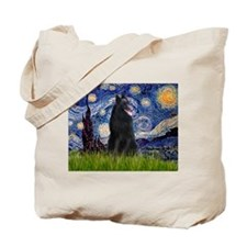 Starry Night /Belgian Sheepdog Tote Bag