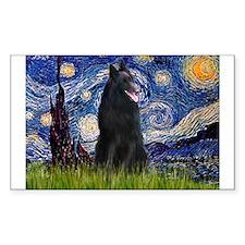 Starry Night /Belgian Sheepdog Decal