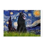 Starry Night /Belgian Sheepdog Postcards (Package
